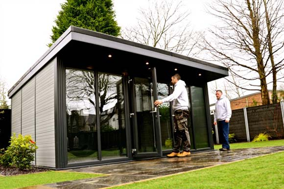 Natural Look Composite Garden Offices Birmingham