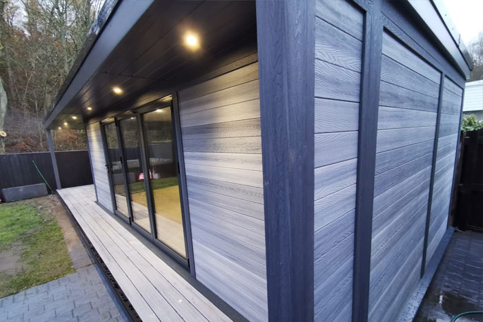 Timber Effect Modern Garden Rooms
