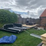 6mX3m Double Canopy Garden In Progress 3