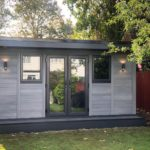 Ashmere Double Door With Outdoor Lighting Composite Garden Building
