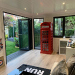 Internal Shot Of Urban Outdoor Garden Room Decking Doors