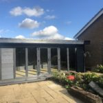 Composite Garden Building Ashmere Style With Four Glass Panes And French Style Doors