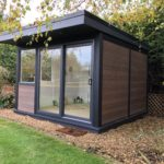 Composite Garden Building Oakland Style With Sliding Door And Windows