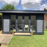 Composite Garden Building With French Doors