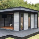 Composite Garden Building With Matching Decking