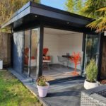 Composite Garden Building With Open Large Bi Fold Door