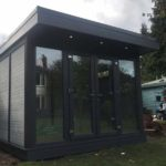 Composite Garden Buildings Dark Grey Installation