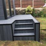 Composite Wooden Steps Made To Match Garden Room