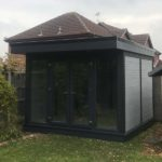 Dark Grey Black Garden Building