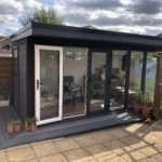 Door Open Composite Garden Room