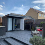 External Shot Of Hampton Garden Room With Decking And Steps