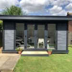 Front On View Composite Garden Room