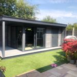 Garden Room With Dividing Wall And Single Canopy