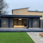 Large Grey Garden Room With Bi Fold