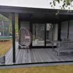 Light Grey Garden Retreat In East Anglia With Canopy