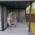 Light Grey Garden Room East Anglia With Canopy