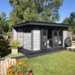 Light Grey Medium Sized Garden Room