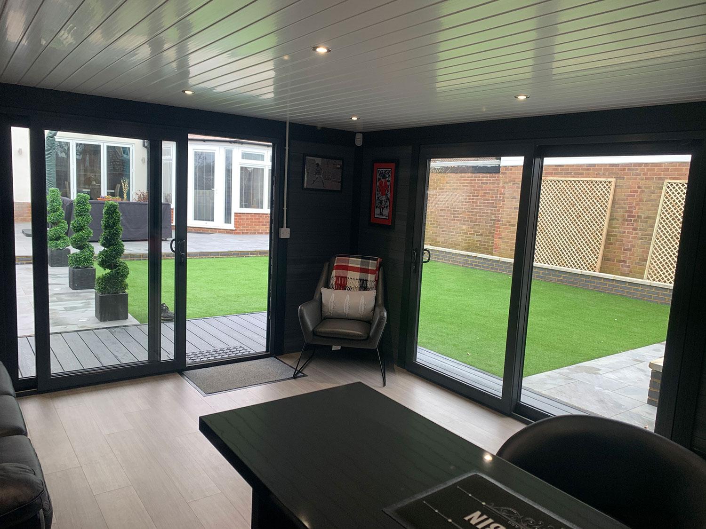 Medium Sized Garden Room Internal Full Height Glass 2
