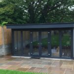 Modern Sleek Black Composite Garden Building