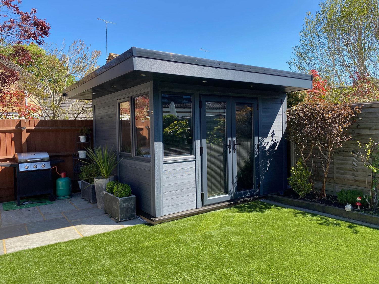 Small Garden Room In Grey