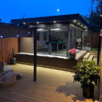 Walnut Garden Room In Olney At Night
