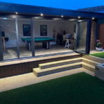 Walnut Garden Room In Olney With External Lighting
