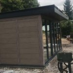 Woodgrain Finish Garden Room Side Profile
