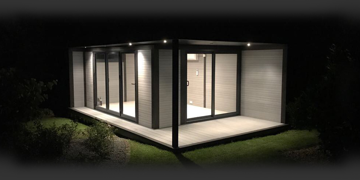 Garden Room With External Lighting