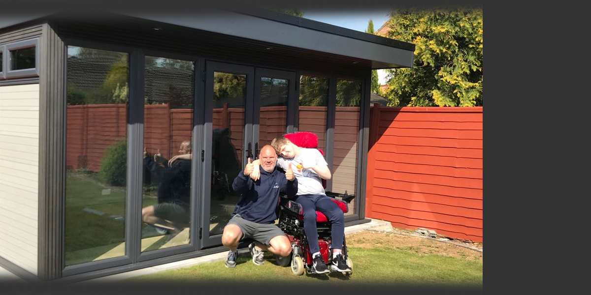 Garden Room built for disabled teenager