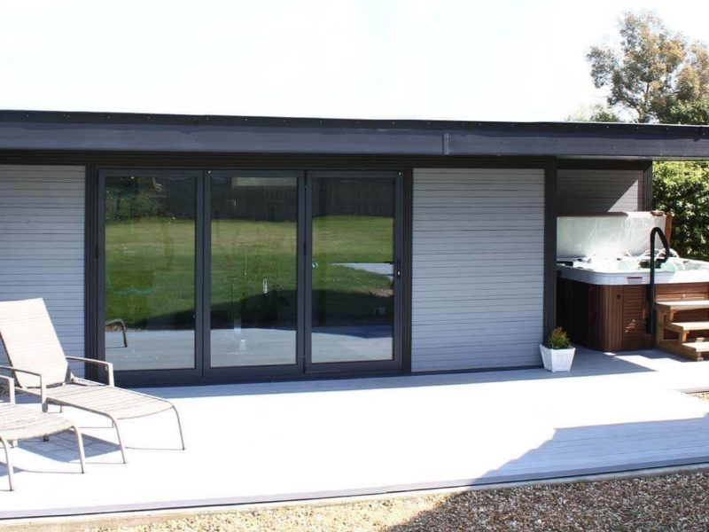 Composite Garden Buildings Hot Tub Retreat Christchurch 1