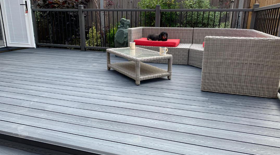 Composite Decking looks just like timber with No Rotting