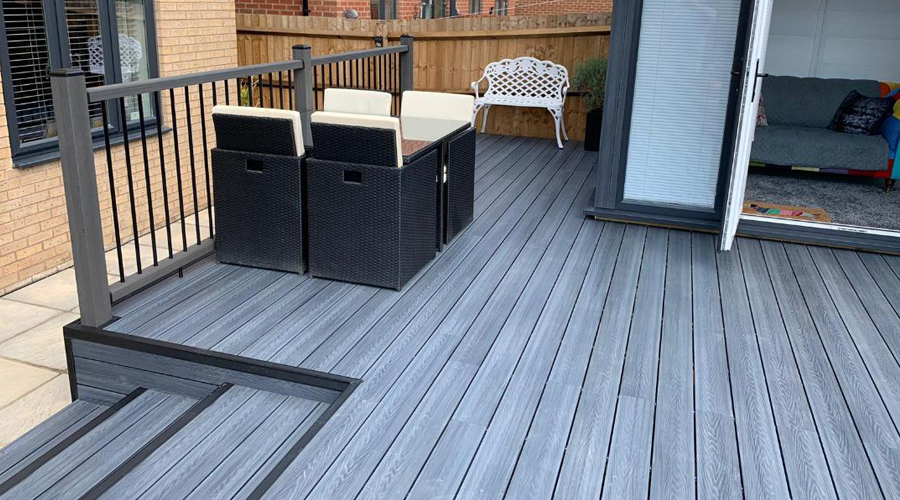 Hassle Free living with composite Garden Room And Decking