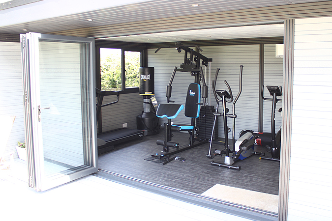 Home Gym In Composite Garden Room