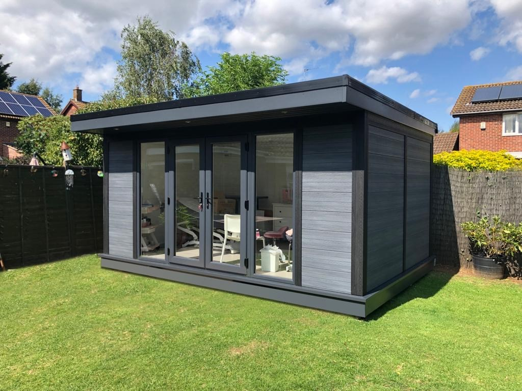 Composite Garden Room Beauticians In Bedford Outside Shot
