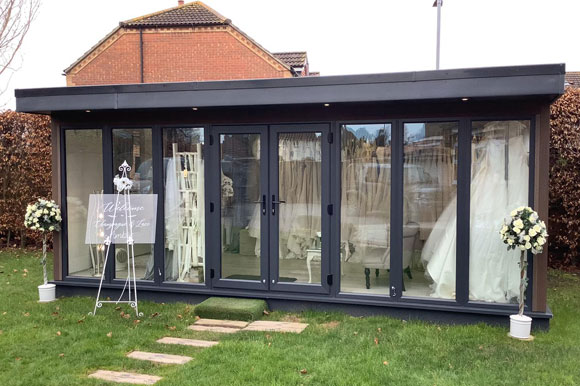 Bridal Business Run From Composite Garden Office