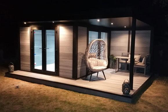 Composite Garden Room Taken At Night