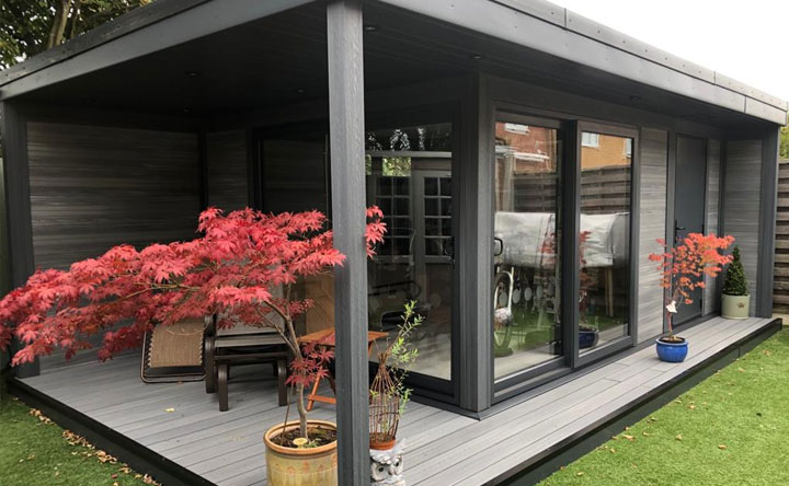 Garden Retreat With Side Canopy And Decking