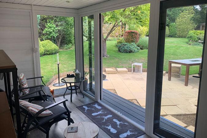 Garden Room Used As A Quiet Retreat